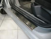 Накладки на пороги Пежо 407 (защитные накладки Peugeot 407)