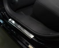 Накладки на пороги Пежо 408 (защитные накладки Peugeot 408)