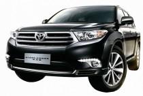 Ходовые огни DRL для Тойота Хайлендер 2 (ДРЛ на Toyota Highlander 2 рестайл)