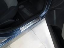 Накладки на пороги Рено Докер (защитные накладки Renault Dokker)