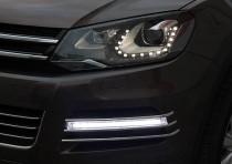 Дневные ходовые огни Volkswagen Touareg 2 (ДХО на Фольксваген Туарег 2)