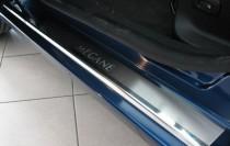 Накладки на пороги Рено Меган 3 (защитные накладки Renault Megane 3)