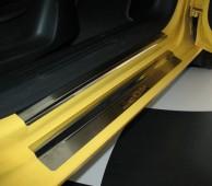 Накладки на пороги Сеат Леон 2 (защитные накладки Seat Leon 2)