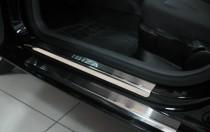 Накладки на пороги Сеат Ибица 4 5Д (защитные накладки Seat Ibiza 4 5D)