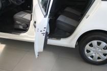 Накладки на пороги на машину Шкода Фабия 2 (защитные накладки Sk