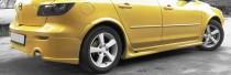 Комплект пластиковых порогов Mazda 3 Hatchback (2003-2008)