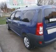 Рейлинги на Дачия Логан универсал (рейлинги Dacia Logan MCV концевик. пласт.)