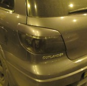 Реснички на стопы Митсубиси Аутлендер 1 (задние накладки на стопы Outlander 1)