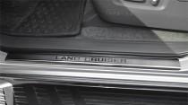 Накладки на пороги Тойота Ленд Крузер Прадо 120 (защитные накладки Toyota Land Cruiser Prado 120)