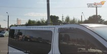 Рейлинги Рено Трафик (рейлинги на крышу Renault Trafic концевик.пласт.)