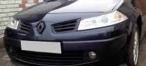 Реснички на фары Рено Меган 2 (накладки фар Renault Megane 2)