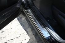 Накладки на пороги Тойота Рав 4 4 (защитные накладки Toyota RAV4 4)