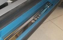 Накладки на пороги Фольксваген Гольф 5 5Д (защитные накладки Volkswagen Golf 5 5D)