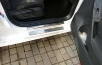 Накладки на пороги Фольксваген Гольф 6 5Д (защитные накладки Volkswagen Golf 6 5D)