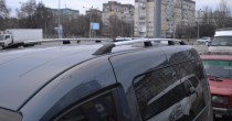 Рейлинги на Фольксваген Кадди (рейлинги Volkswagen Caddy концевик.пласт.)