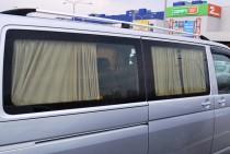 Рейлинги на Volkswagen Transporter T5 (продольные рейлинги Фольксваген Транспортер Т5 концевик.метал.)