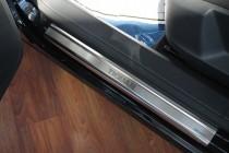 Накладки на пороги Фольксваген Тигуан 1 (защитные накладки Volkswagen Tiguan 1)