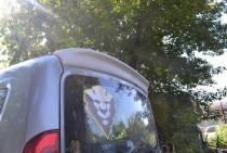 Оригинальный спойлер козырек для Fiat Doblo 2 (установка на авто
