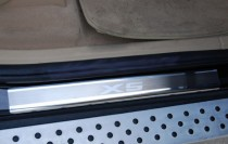 заказать Накладки на пороги БМВ Х5 E70 (защитные пороги BMW X5 E