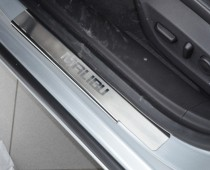 Накладки на пороги Шевроле Малибу (защитные накладки Chevrolet Malibu)