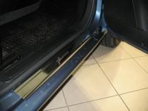 Накладки на пороги Фиат Гранде Пунто (защитные накладки Fiat Grande Punto)