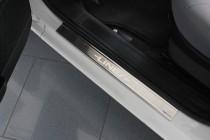 Накладки на пороги Фиат Линеа (защитные накладки Fiat Linea)