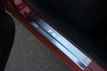 Накладки на пороги Форд Фиеста 6 (защитные накладки Ford Fiesta 6)