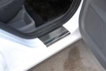 купить Накладки на пороги Форд Фокус 2 3Д (защитные накладки For