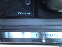 Nataniko Накладки на пороги Форд Фокус 2 5Д (защитные накладки Ford Focus 5D)