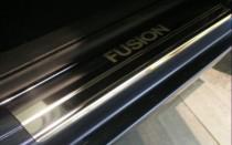 Накладки на пороги Форд Фьюжн (защитные накладки Ford Fusion)