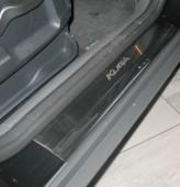 Накладки на пороги Форд Куга 1 (защитные накладки Ford Kuga 1)