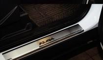 Накладки на пороги Форд Куга 2 (защитные накладки Ford Kuga 2)