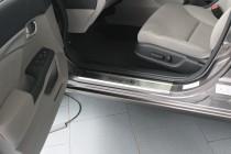 Накладки на пороги Хонда Цивик 9 4Д (защитные накладки Honda Civic 9 4D)