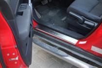 Накладки на пороги Хонда СРВ 3 (защитные накладки Honda CR-V 3)