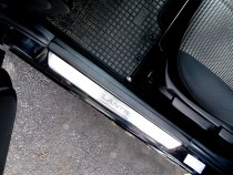 Накладки на пороги Хендай Элантра 4 (защитные накладки Hyundai Elantra HD)
