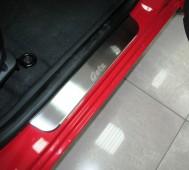 Накладки на пороги Хендай Гетц (защитные накладки Hyundai Getz)