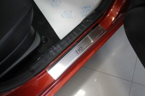 Накладки на пороги Хендай i10 1 (защитные накладки Hyundai i10 1)