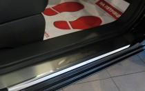 Накладки на пороги Киа Каренс 3 (защитные накладки Kia Carens 3)