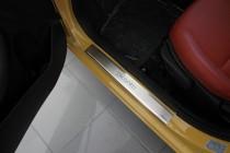 Накладки на пороги Киа Пиканто 2 (защитные накладки Kia Picanto 2)