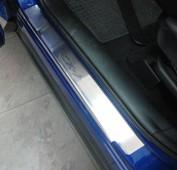 Накладки на пороги Мазда СХ-7 (защитные накладки Mazda CX-7)