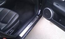 Накладки на пороги Мазда 6 2 (защитные накладки Mazda 6 2)