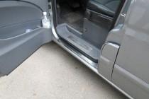 Накладки на пороги в машину Мерседес Вито 639 (защитные накладки