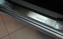 Накладки на пороги Митсубиси Грандис (защитные накладки Mitsubishi Grandis)