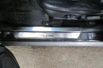 Накладки на пороги Митсубиси Аутлендер 1 (защитные накладки Mitsubishi Outlander 1)