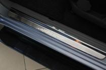 Накладки на пороги Митсубиси Паджеро Спорт 2 (защитные накладки Mitsubishi Pajero Sport 2)