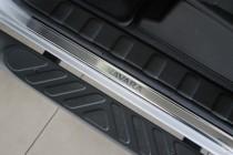Накладки на пороги Ниссан Навара 3 (защитные накладки Nissan Navara 3)