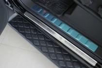Накладки на пороги Ниссан Патфайндер R51 (защитные накладки Nissan Pathfinder R51)
