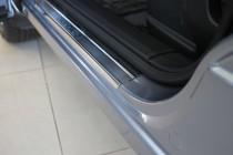 Накладки на пороги Ниссан Кашкай 1 +2 (защитные накладки Nissan Qashqai 1 +2)