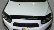 Мухобойка капота Шевроле Авео 4 Т300 (дефлектор на капот Chevrolet Aveo 4 T300)