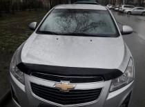 Мухобойка капота Шевроле Круз (дефлектор на капот Chevrolet Cruze)
